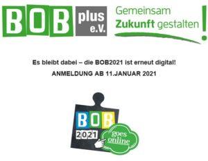 EXTERNE VERANSTALTUNG - BOB2021 ONLINE