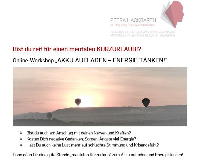Workshop Petra Hackbarth